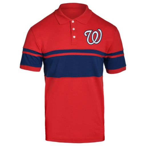 Men's Washington Nationals Striped Polo