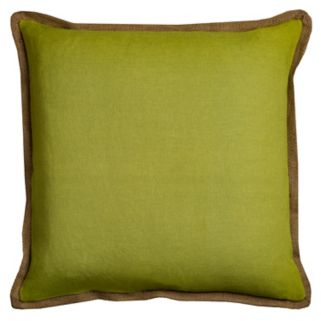 Rizzy Home Solid Jute Trim Throw Pillow
