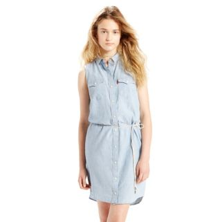 Women's Levi's Modern Western Denim Shirtdress