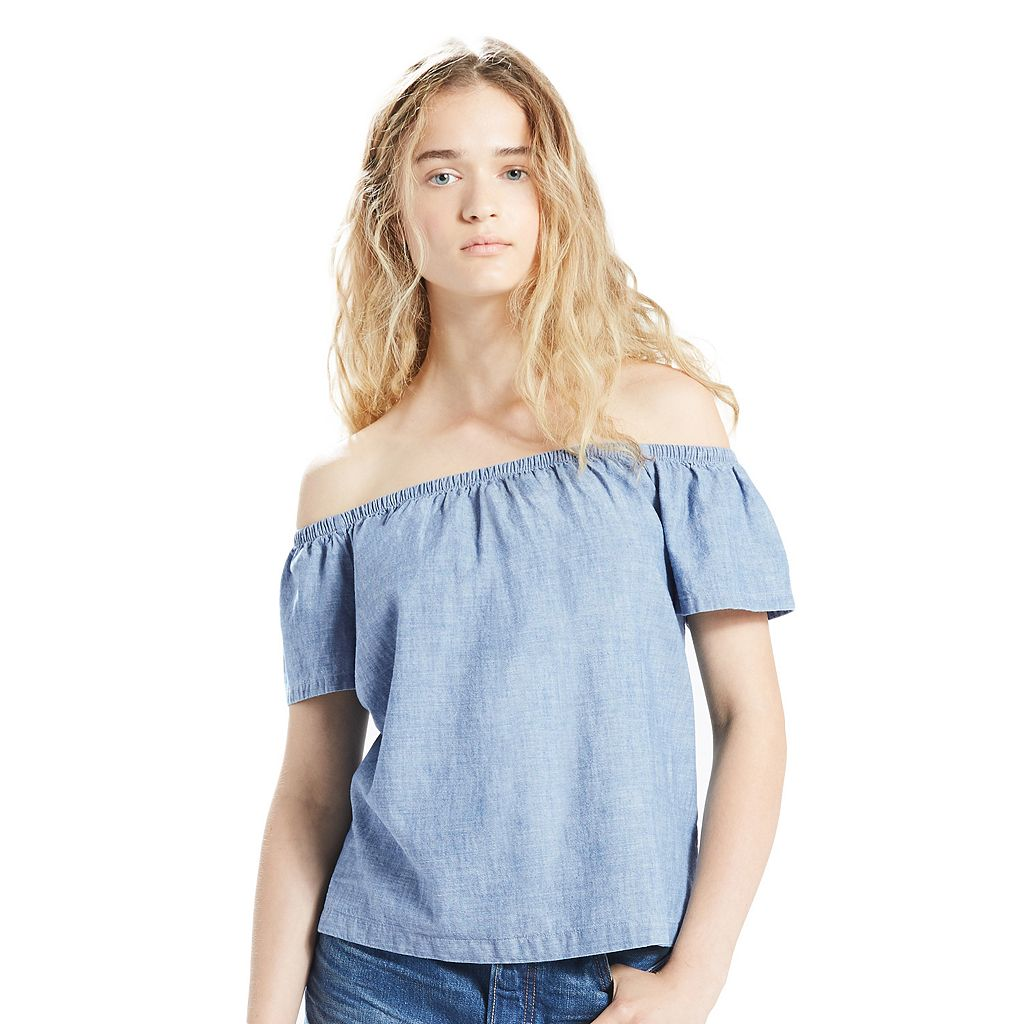 Women's Levi's Denim Off-the-Shoulder Top