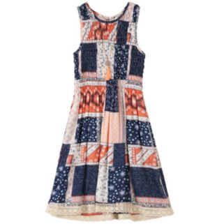 Girls 7-16 Speechless Knee Length Patchwork Dress with Necklace