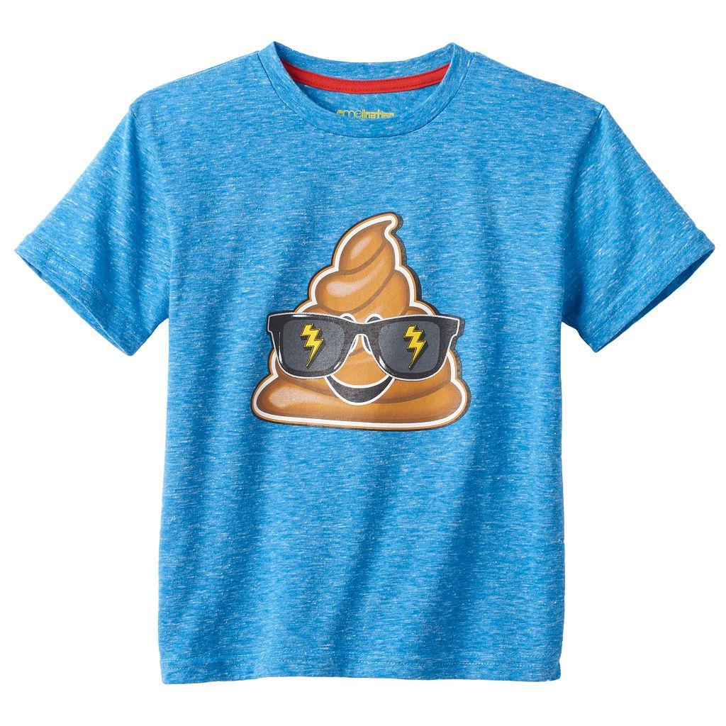 Boys 4-7 Funny Emoji Graphic Tee