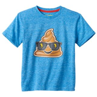 Boys 4-7 Funny Emoji Graphic Tee