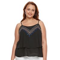 Plus Size Apt. 9® Embroidered Cami Tank Top