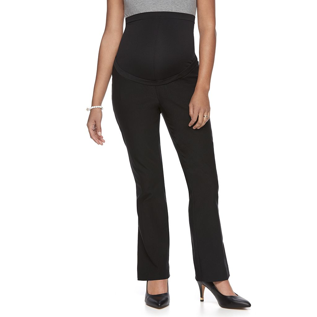 Maternity a:glow Belly Panel Bootcut Dress Pants