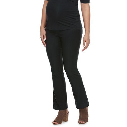 Maternity a:glow Belly Panel Bootcut Dress Pants