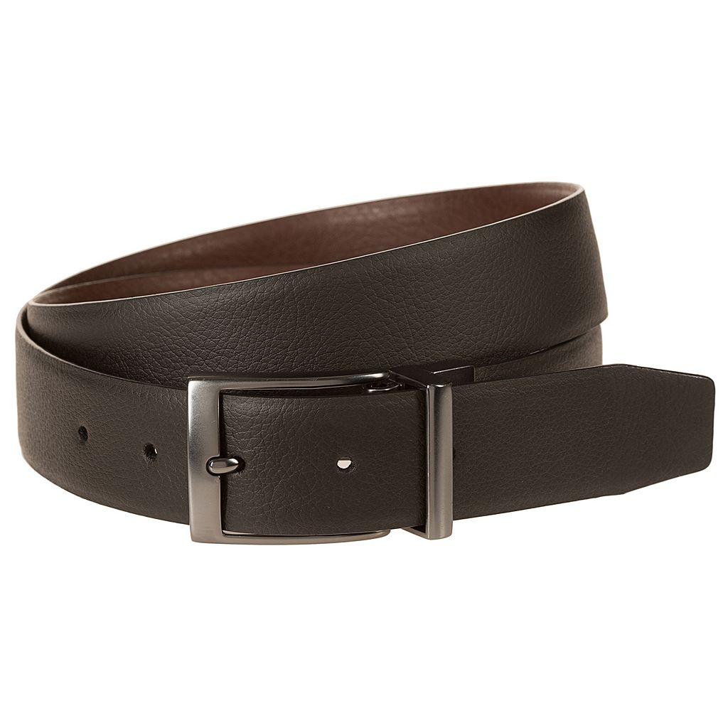 Men's Nike Black & Brown Textured Reversible Leather Belt