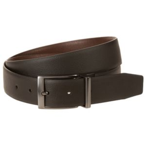 Men's Nike Black & Brown Textured Reversible Leather Belt
