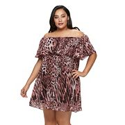 Plus Size Jennifer Lopez Off-the-Shoulder Ruffle Shift Dress