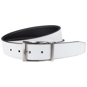 Men's Nike Black & White Stitched Reversible Leather Belt