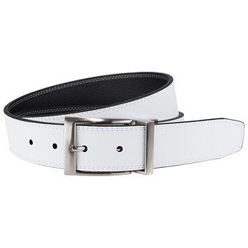 Men's Nike Black & White Stitched Reversible Leather Belt