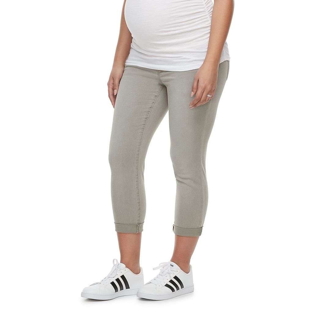 Maternity a:glow Belly Panel Cropped Skinny Pants