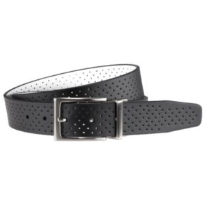 Men's Nike Black & White Perforated Reversible Leather Belt
