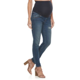 Maternity a:glow Belly Panel Skinny Jeans