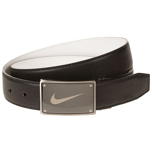 Men's Nike Black & White Reversible Plaque-Buckle Belt