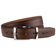 Men's Nike G-Flex Stretch Pebbled Leather Belt