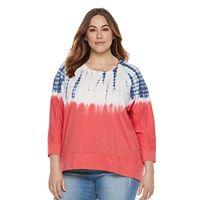 Plus Size SONOMA Goods for Life™ Tie-Dye French Terry Sweatshirt