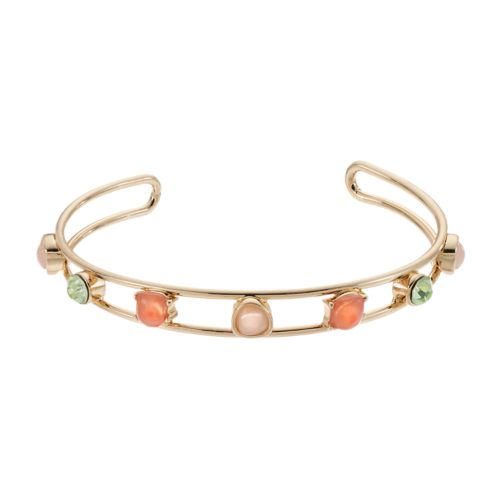LC Lauren Conrad Geometric Open Cuff Bracelet