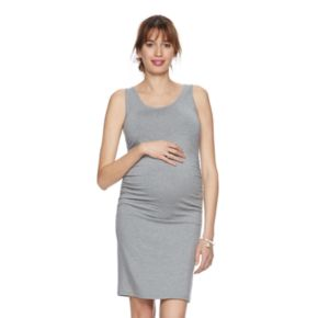 Maternity a:glow Ruched Tank Dress