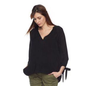 Maternity a:glow High-Low Peasant Top