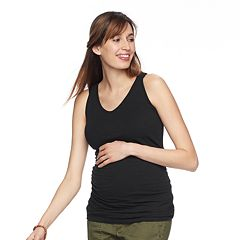 Maternity a:glow Ruched V-Neck Tank