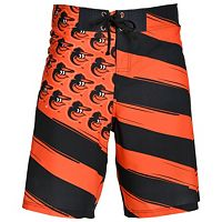 Men's Baltimore Orioles Diagonal Flag Boardshorts