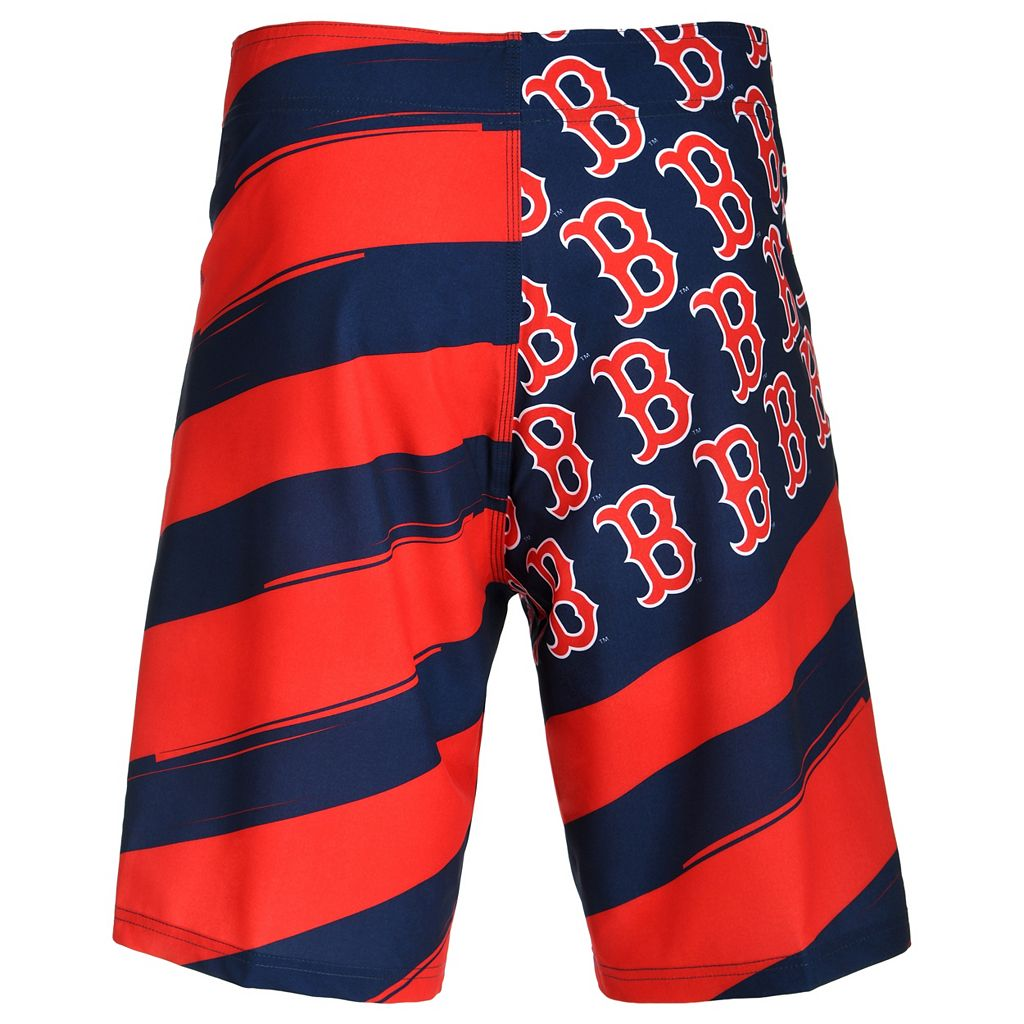 Men's Boston Red Sox Diagonal Flag Boardshorts