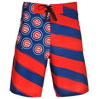 Men's Chicago Cubs Diagonal Flag Boardshorts