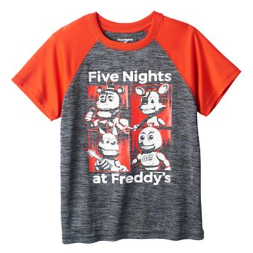 Boys 8-20 Five Nights At Freddy's Raglan Tee