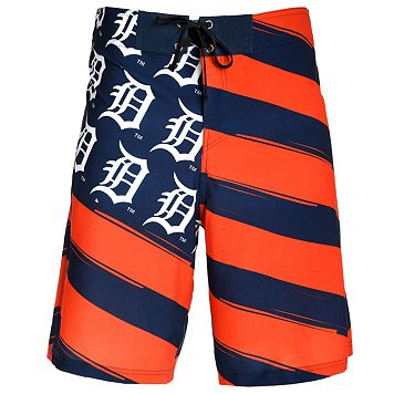 Men's Detroit Tigers Diagonal Flag Boardshorts