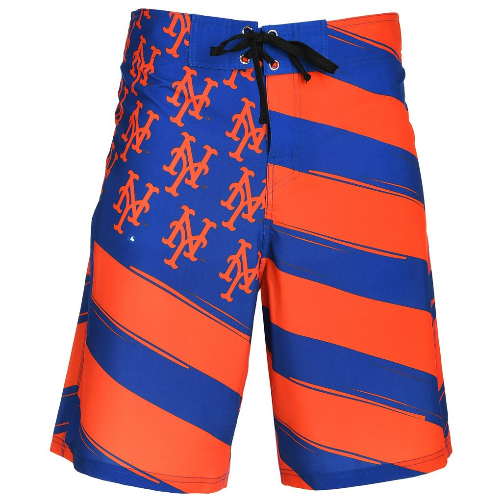 Men's New York Mets Diagonal Flag Boardshorts