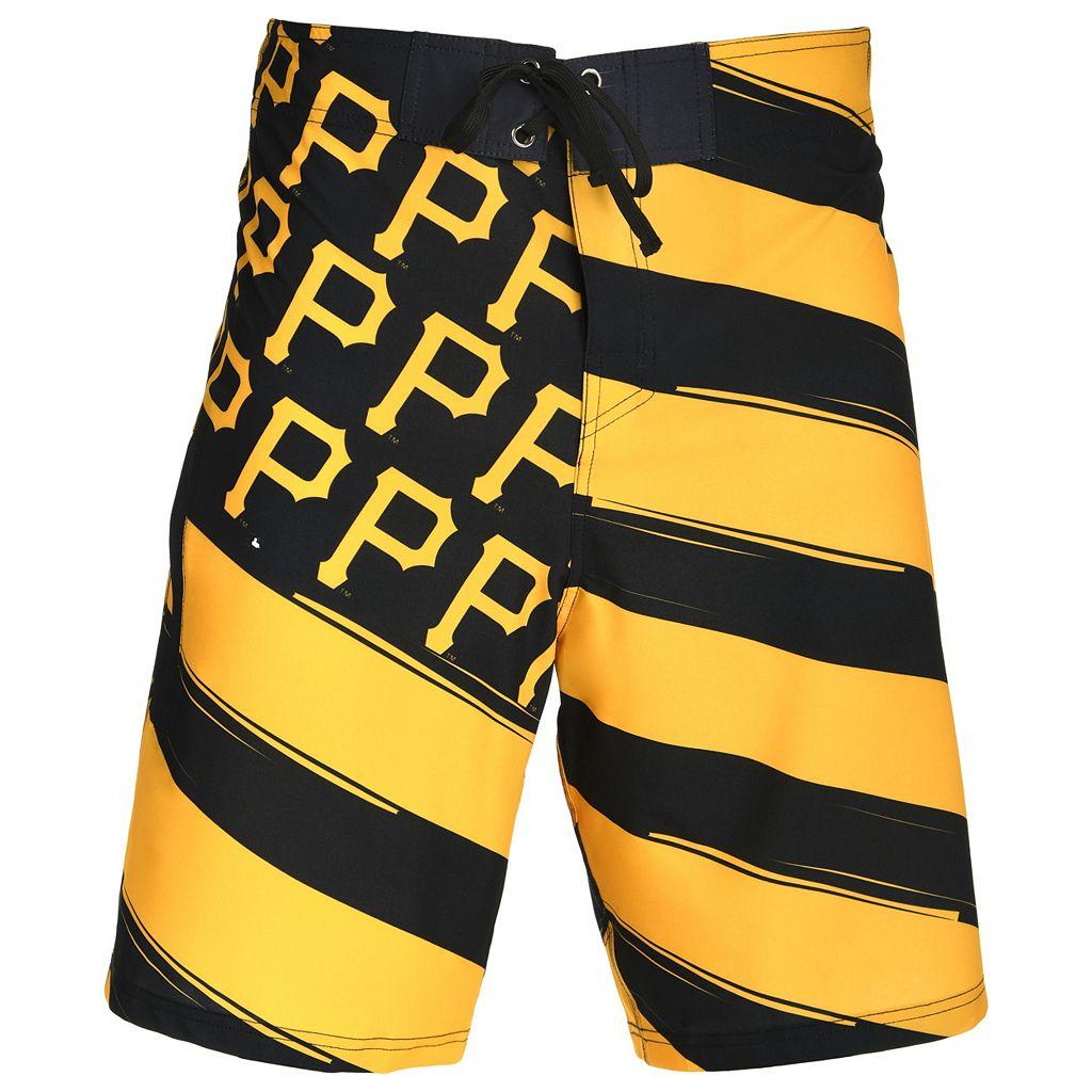 Men's Pittsburgh Pirates Diagonal Flag Boardshorts