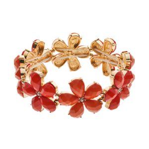 Peach Flower Link Stretch Bracelet