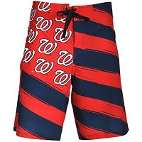 Men's Washington Nationals Diagonal Flag Boardshorts