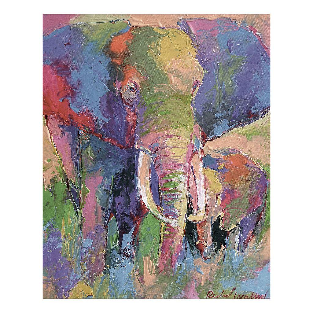 Elephant I Pastel Canvas Wall Art