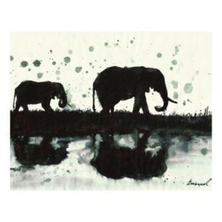 Elephants Canvas Wall Art