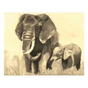 Elephants III Canvas Wall Art