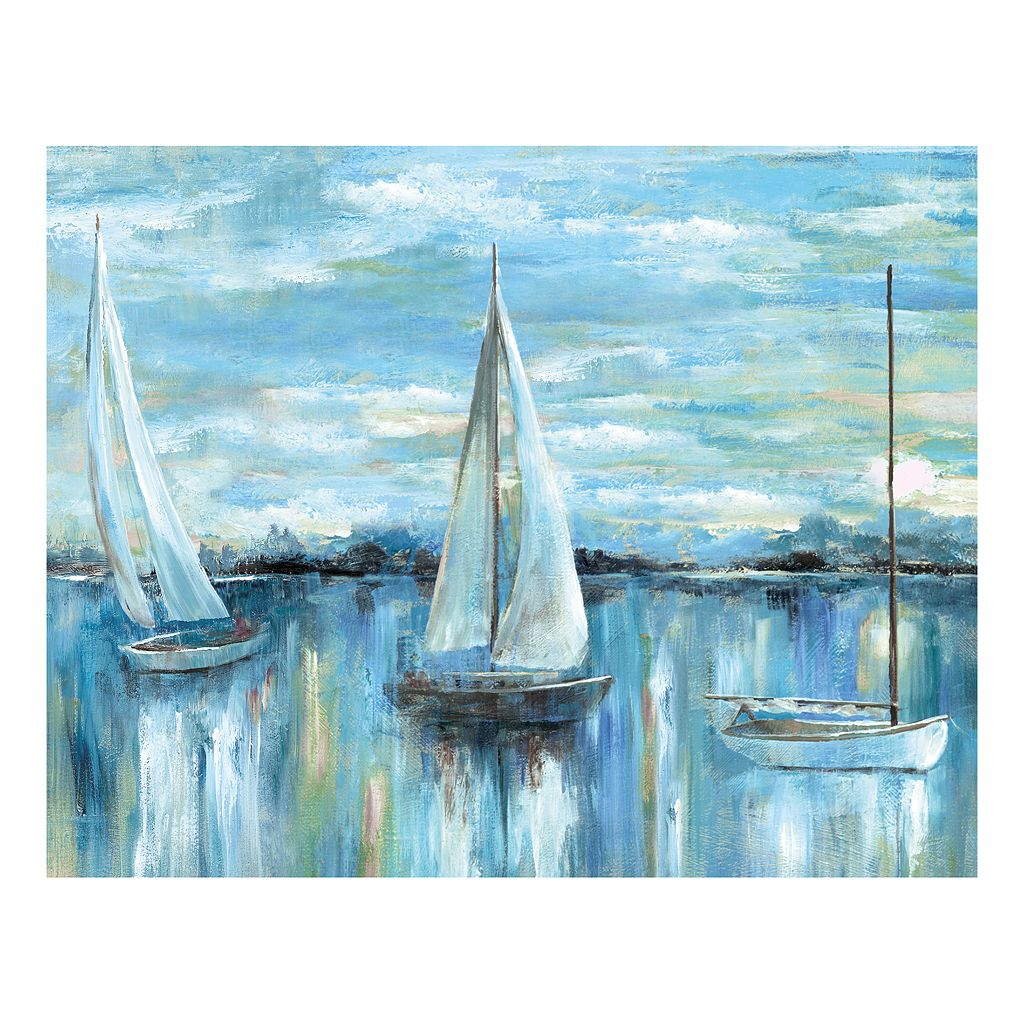 Evening On The Bay Canvas Wall Art