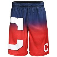 Men's Cleveland Indians Big Logo Gradient Training Shorts