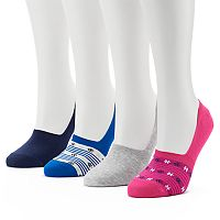 Women's Keds 4-pk. Ditsy Floral Combed Cotton Non-Slip Liner Socks