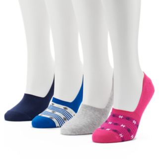 Women's Keds 4-pk. Ditsy Floral Combed Cotton Non-Slip Liner Socks