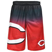 Men's Cincinnati Reds Big Logo Gradient Training Shorts