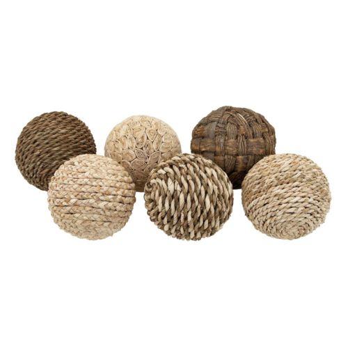Coastal Living Assorted Balls Vase Filler 6-piece Set