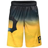 Men's Pittsburgh Pirates Big Logo Gradient Training Shorts