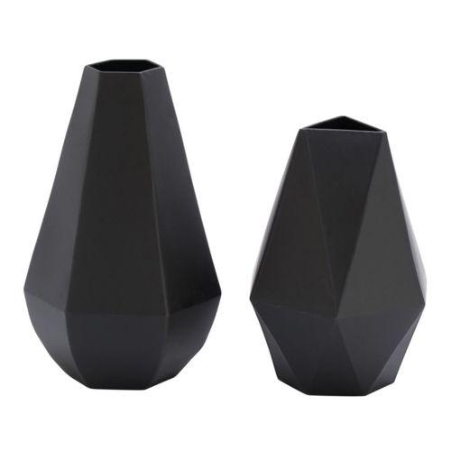 Modern Reflections Geometric Vase 2-piece Set