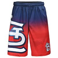 Men's St. Louis Cardinals Big Logo Gradient Training Shorts