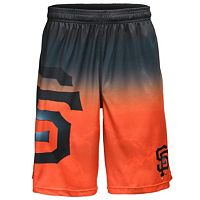 Men's San Francisco Giants Big Logo Gradient Training Shorts
