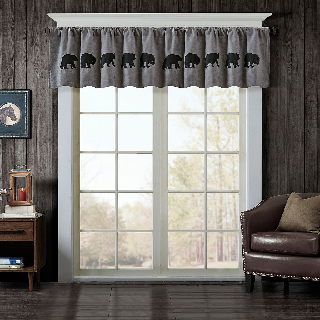 Woolrich Bear Faux Suede Window Valance