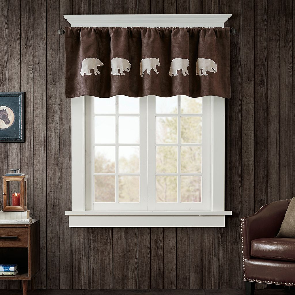 Woolrich Bear Faux Suede Valance