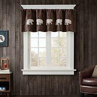 Woolrich Bear Faux Suede Window Valance